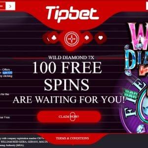 Tipbet 100 Free Spins No Deposit