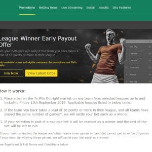 Bet365 Early Payout Offer