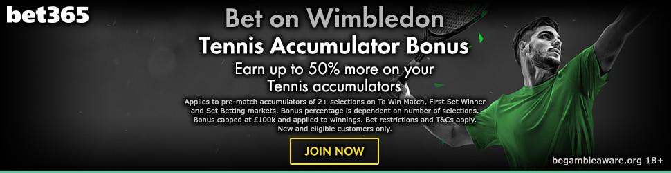 Bet365 Tennis Bonus on Acca's