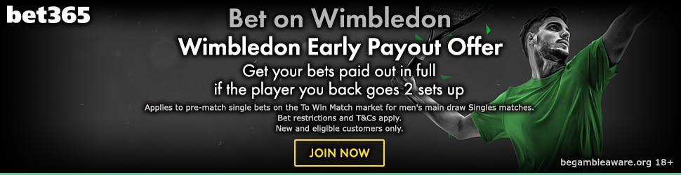 Bet365 2 Up Tennis Offer