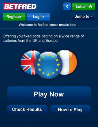 Betfred Mobile Lottery