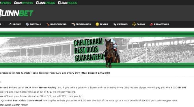 Cheltenham Best Odds Guaranteed at Quinnbet