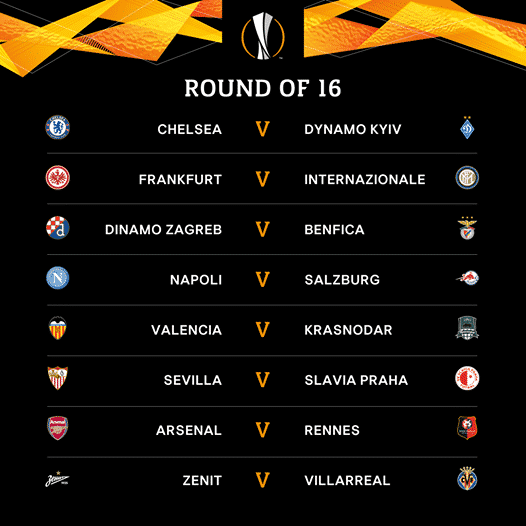 Europa League Round of 16 draw - Manchester United pitted against AC Milan