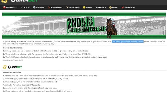 Free Bet If 2nd to SP Favourite at Cheltenham