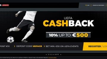 UEFA Cashback Up To £500 at Mobile Wins Sports!