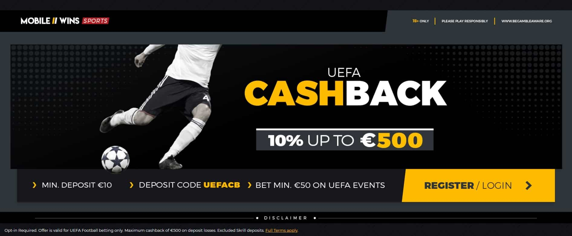 UEFA Cashback at Mobile Wins